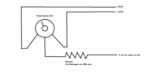 PLC Trainer Analog Kit 0-10 VDC Potentiometer Knob and Meter