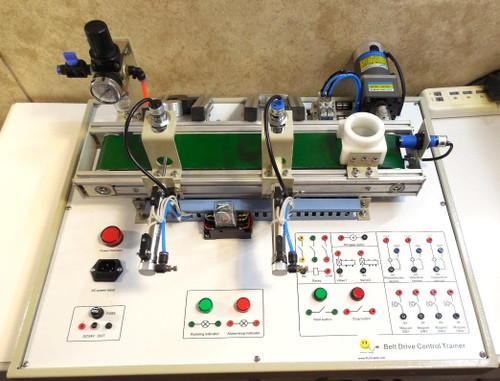 PLC Cables, Inc Miniature Machine - Ultimate PLC Trainer - Conveyor Part Detection - Electrical Training - Allen Bradley