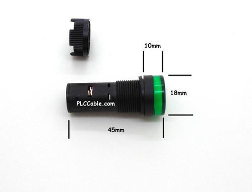 White 16MM 5/8 24V LED PANEL SIGNAL LIGHTS