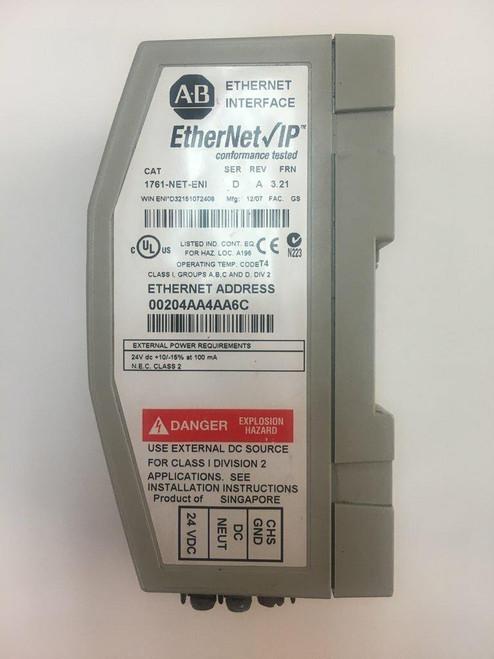 Allen Bradley Allen Bradley used 1761-NET-ENI Series D Ethernet FRN 3.21