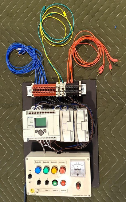 PLC Cables, Inc Custom Allen Bradley Analog PLC Training Micrologix 1100 Trainer for our Mini Conveyor