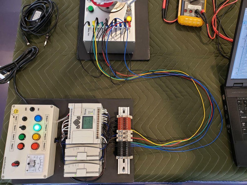 PLC Cables, Inc Custom Allen Bradley Analog PLC Training Micrologix 1100 Trainer for our PID Trainer