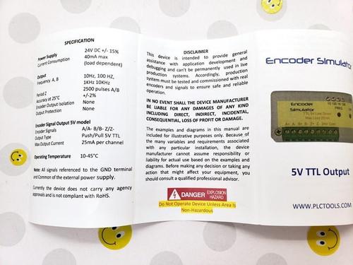 Troubleshooter Encoder Pulse Frequency Simulator SIM-E5V