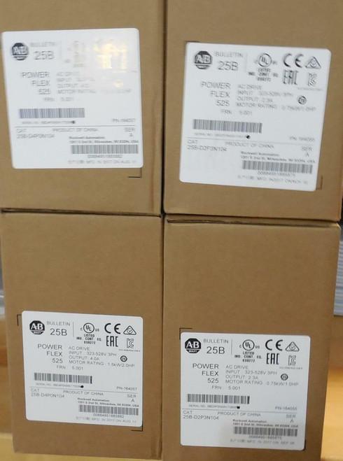Allen Bradley Allen-Bradley PowerFlex 22A-D4P0N104 4 AC Drive, 480VAC, 3PH, 4 Amps, 1.5 kW, 2 HP