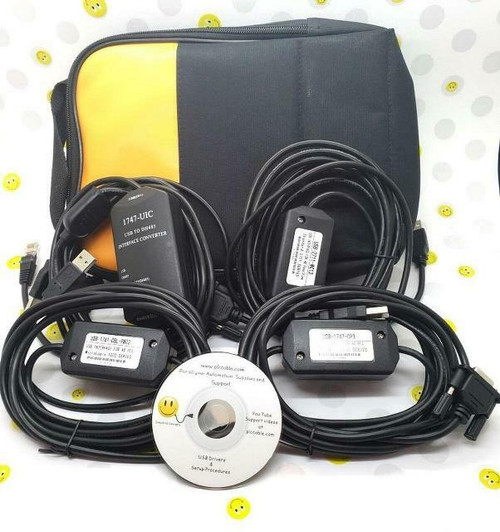 Allen Bradley Allen Bradley With Case 1747-UIC USB 2711-NC13 1747-CP3 1761-CBL-PM02 Complete programming set