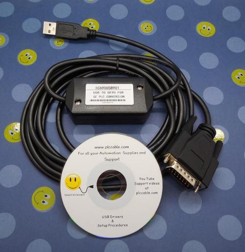 PLC Cables, Inc GE Fanuc USB/SNP PLC Cable IC690USB901 90/30 90/70