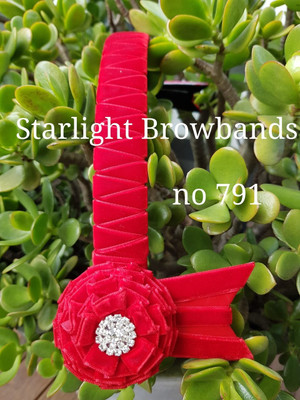 791 all red velvet browband 14&1/2 inch