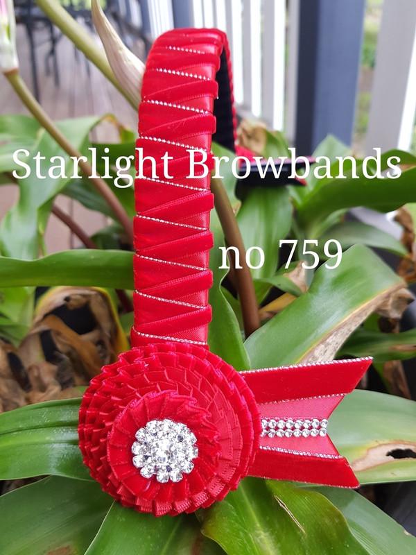 759 red velvet silver edge easy change 14&1/2