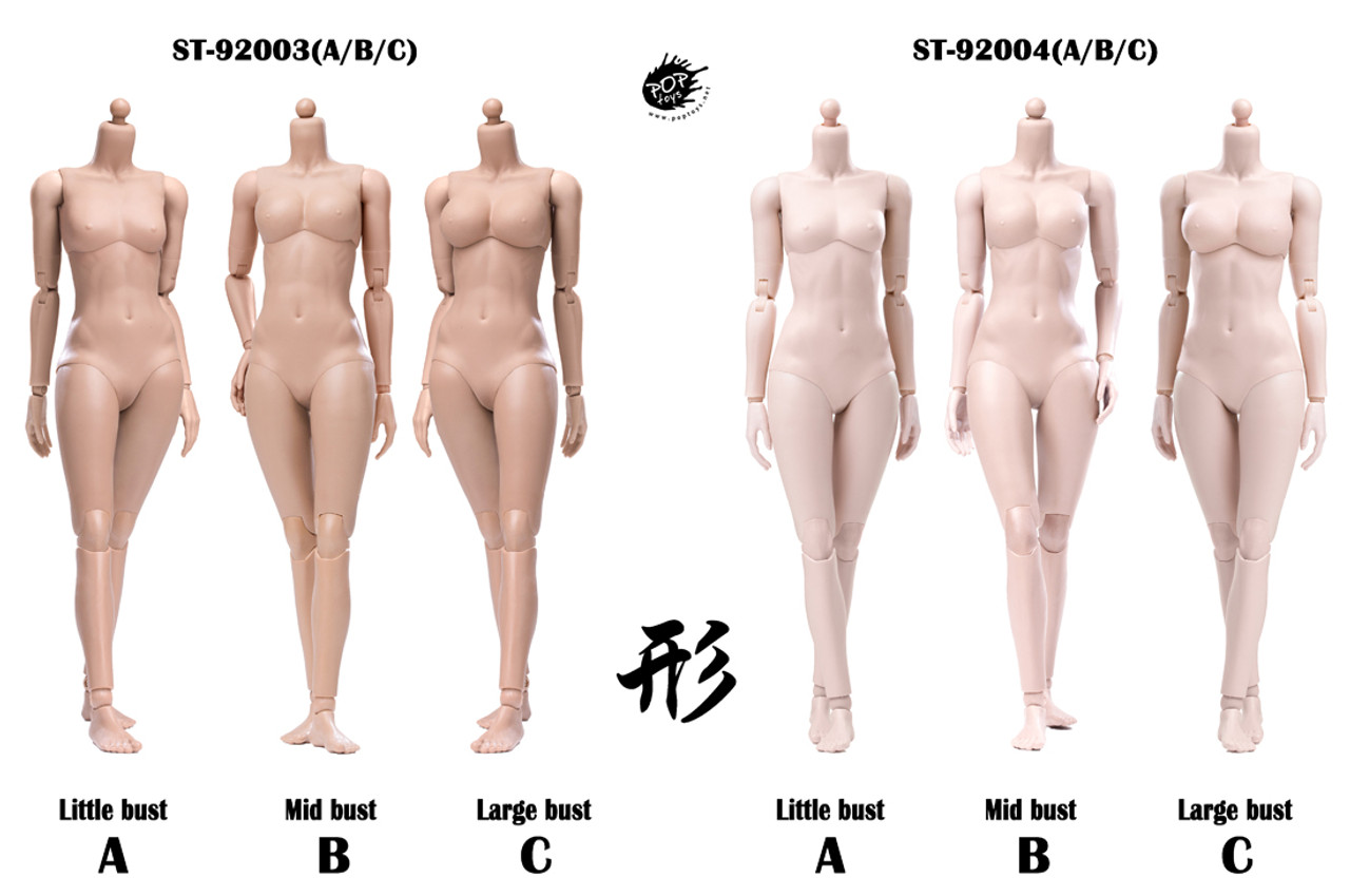POPTOYS 92004 1//6 Super Flexible Female Body Pale  B Mid Bust Modified Ver