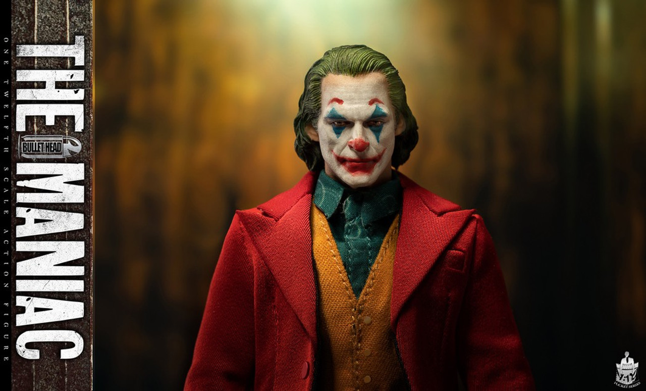 """The Comedian Joker The Maniac 1//12 Bullet Head BH008 Collectible 6/""""Figure Doll"""