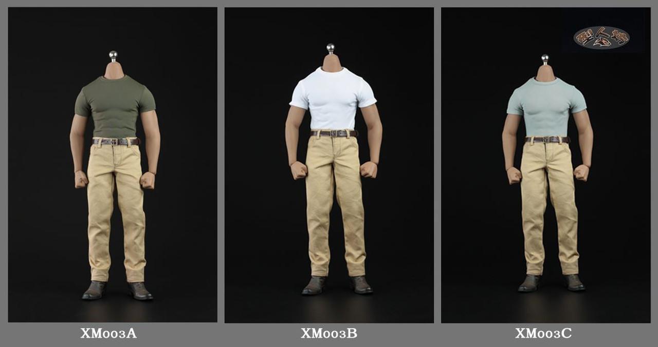 XRF XM03 1//6 Male Costume Clothes T-Shirt Pants Model Set For PH M33 No Body