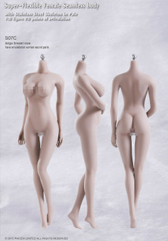 Tbleague 1/6 scale S07C Pale Large Bust female seamless body (in stock)