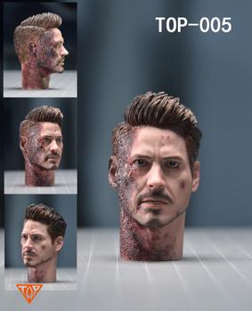 Top 1/6 scale top-005 tony head sculpt 2pcs set (in stock)