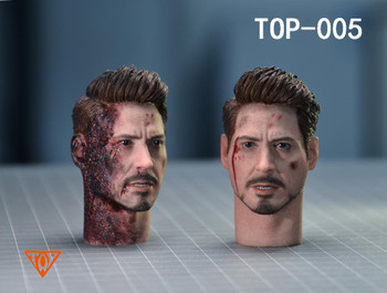 Top 1/6 scale top-005 tony head sculpt 2pcs set (in stock)