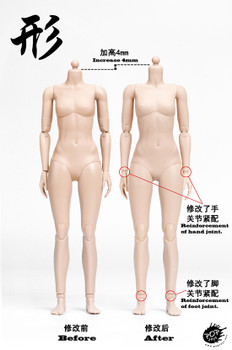 POPTOYS 1/6 XING Series Modified Ver Super flexible female body (in stock)