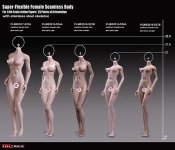 TBLeague Super-Flexible Female Seamless Bodies PLMB2018-S26A ( in stock)
