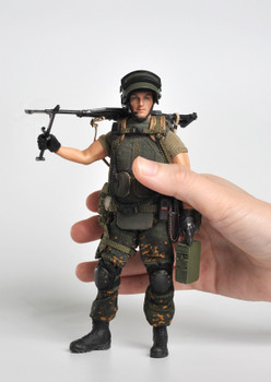Crazy Figure LW010 1/12 Russian alpha special forces machine gunner (in stock)