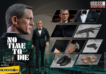 BLACKBOXTOYS BBT9015A 1/6 no time to die (black suit) figure (in stock)