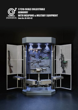 2GOODCO 1/12 ARMOURY WITH WEAPONS & MILITARY EQUIPMENT (Pre order deposit)
