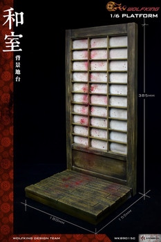 Wolfking wk89015c 1/6 scale Japanese platform  diorama (in stock)