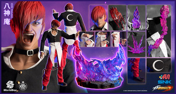 Worldbox KF100 1/6 scale The King Of Fighters Iori Yagami DX ver figure (in stock)