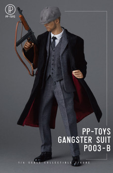 PP-Toys P003B 1/6 Scale Gangster Dark Grey Suit set (in stock)