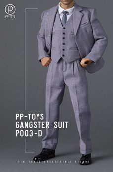 PP-Toys P003D 1/6 Scale Gangster Grey Suit set (in stock)