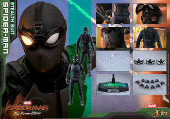 Hot Toys MMS540 SPIDER-MAN: FAR FROM HOME SPIDER-MAN (STEALTH SUIT) (in stock)