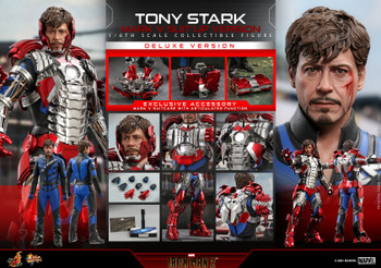 Hot Toys MMS600 1/6 TONY STARK MARK V SUIT UP figure (DX ver) (Pre order deposit)