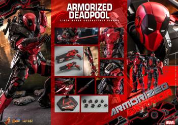 Hot Toys CMS09D42 1/6  Armorized Deadpool Figure (Pre order deposit)