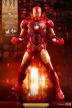 hot toys MMS568 IRON MAN 1/6 MARK IV figure (HOLOGRAPHIC VER) (in stock)