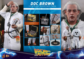 Hot Toys MMS610 1/6 Back To The Future Doc Brown Deluxe Ver (Pre order deposit)