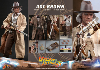 Hot Toys MMS617 1/6 Scale DOC BROWN figure (Pre order deposit)