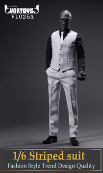 VORTOYS V1025A 1/6 scale white stripe suit set (Pre order)