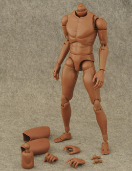 Custom B003 1/6 scale African narrow shoulder body (in stock)