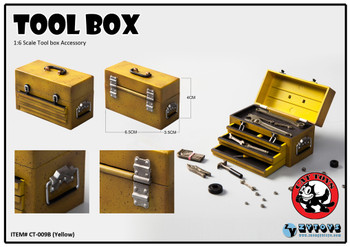 Cat Toys CT009 1/6 yellow tool box accessory set (in stock)