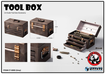 Cat Toys CT009 1/6 Grey tool box accessory set (in stock)