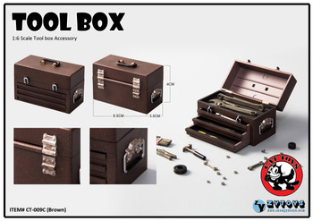 Cat Toys CT009 1/6 Brown tool box accessory set (in stock)