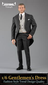 VORTOYS V1014A Gentlemen's Dress Fashion 1/6 Dark Grey suit set (in stock)