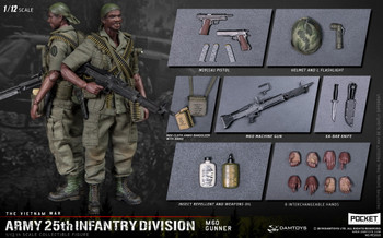 DAMTOYS PES010 1/12 25th Infantry Division M60 GUNNER (in stock)