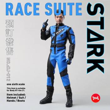 DJ Custom 1/6 scale Race Suit & Racing Helmet Combo (in stock)