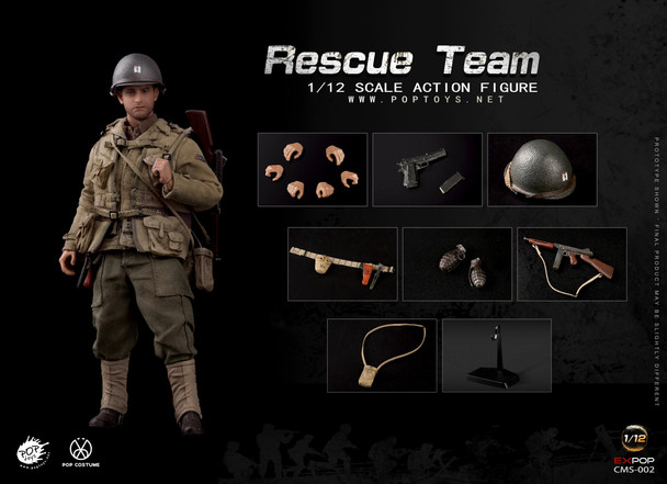 POPTOYS CMS002 1/12 Scale WWII US Rescue Squad Captain (in stock)