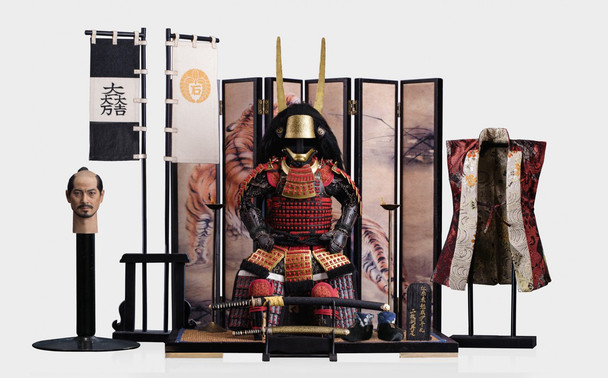 POPTOYS EX029 1/6 Scale Ishida Mitsunari Red armor and accessories package (in stock)
