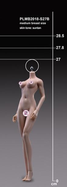 Tbleague 1/6 scale S27B Suntan Mid Bust female seamless body (in stock)