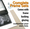 8 x 10 Backload Metal Frame Set (Complete with Standard Clear Glass and Cardboard Backing)