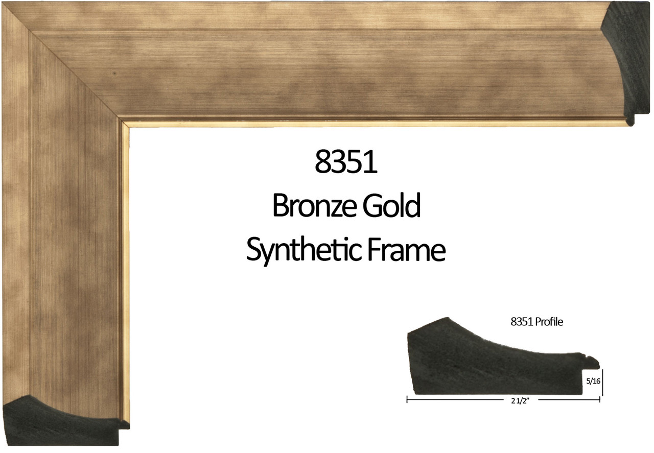 """2 1/2"""" Bronze Gold Synthetic Wood Frame (#8351)"""