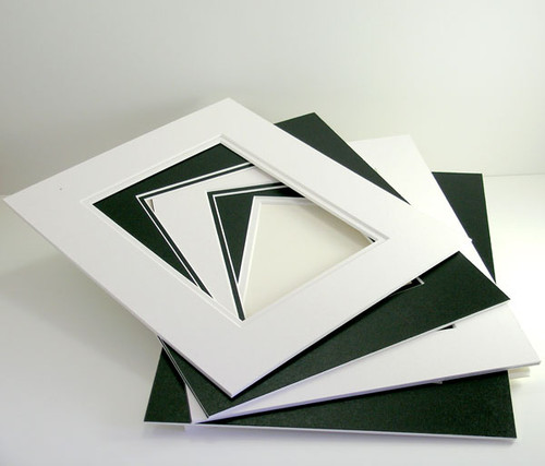 """8x10 Double 25 Pack (Conservation) - includes mats, 1/8"""" Acid-Free Foamcore backing, sleeves and tape!"""