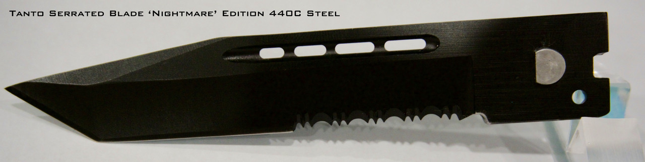 Large Hellion 'Nightmare' Edition Tanto Serrated Edge Replacement Blade