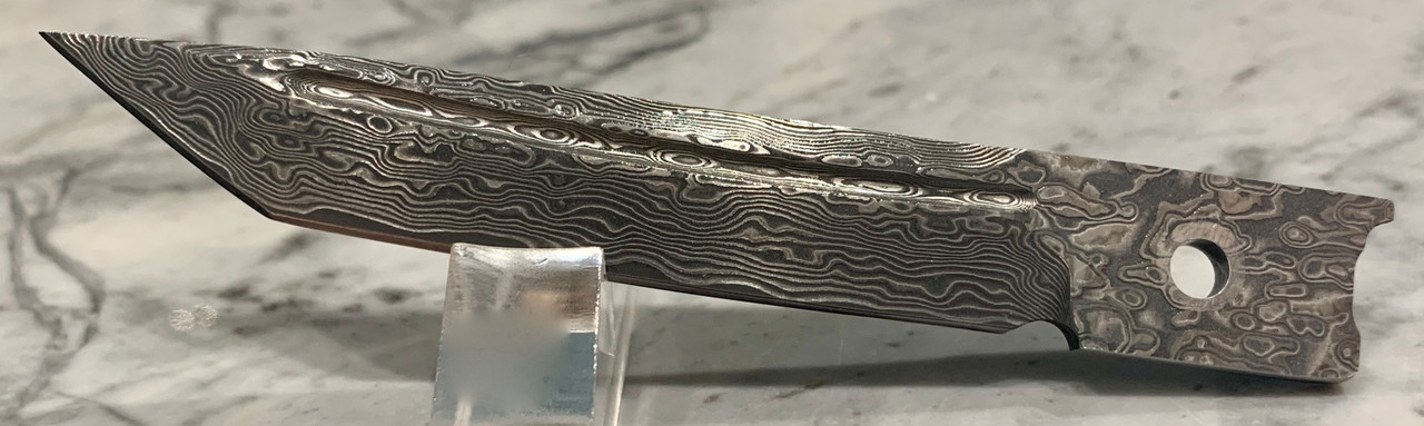 Damascus Tanto Straight Edge