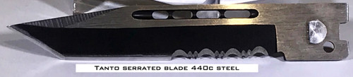 Small Hellion Tanto Serrated Edge Replacement Blade
